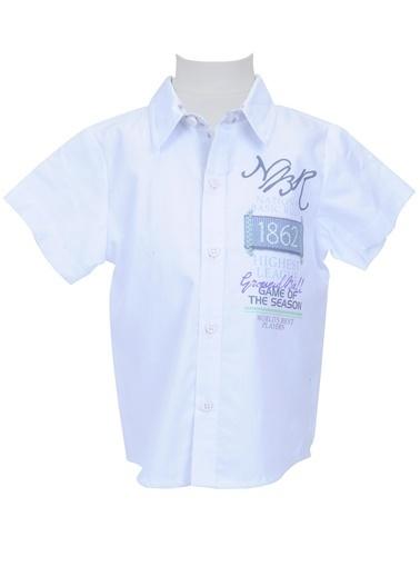 Mininio Beyaz Baskılı Gömlek (6ay-4yaş) Beyaz Baskılı Gömlek (6ay-4yaş) Beyaz